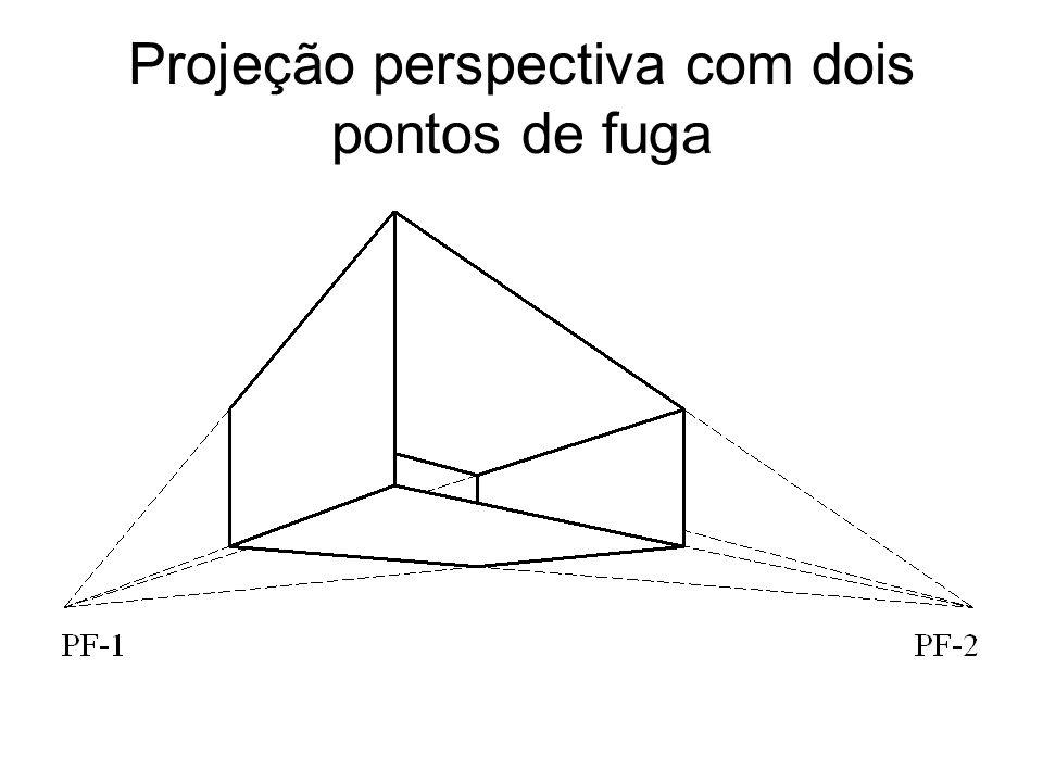 Projeção perspectiva com dois pontos de fuga
