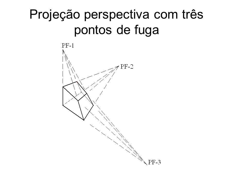 Projeção perspectiva com três pontos de fuga