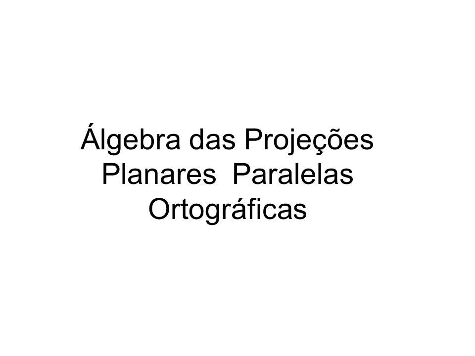 Álgebra das Projeções Planares Paralelas Ortográficas