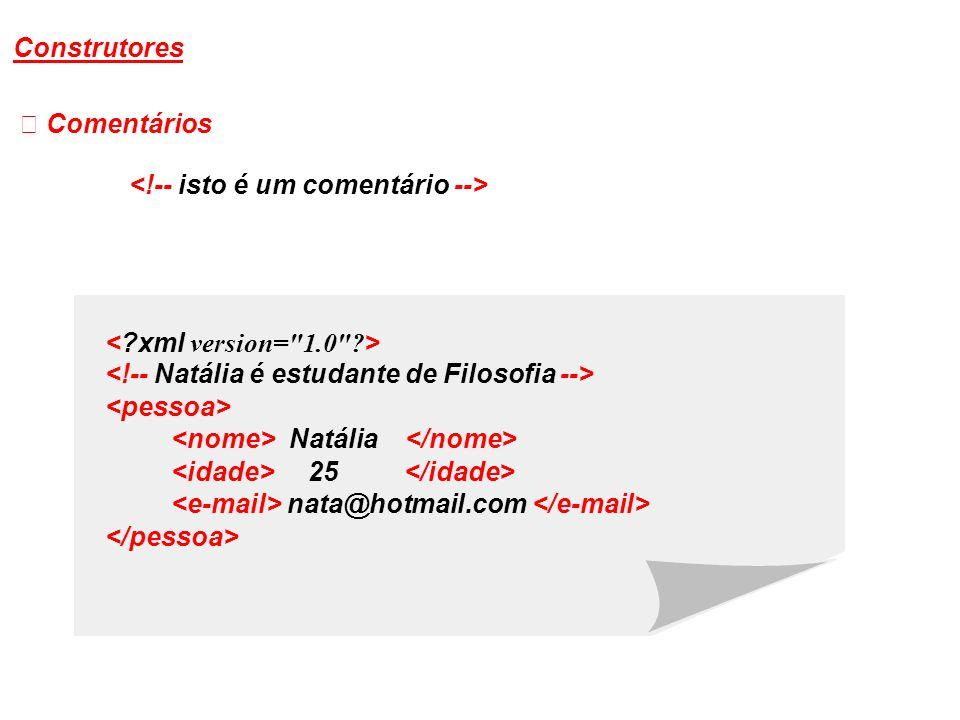 Comentários Natália 25 nata@hotmail.com