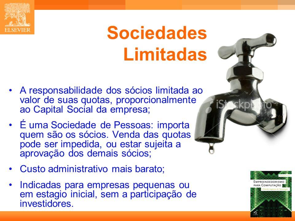 13 Capa A responsabilidade dos sócios limitada ao valor de suas quotas, proporcionalmente ao Capital Social da empresa; É uma Sociedade de Pessoas: im