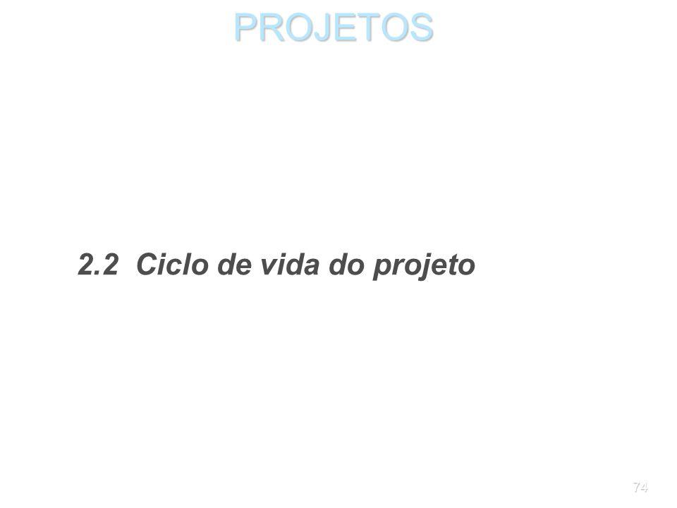 73PROJETOS Importante: as atividades devem sempre ser identificadas por verbos; os produtos, por substantivos. Não é regra do gerenciamento de projeto