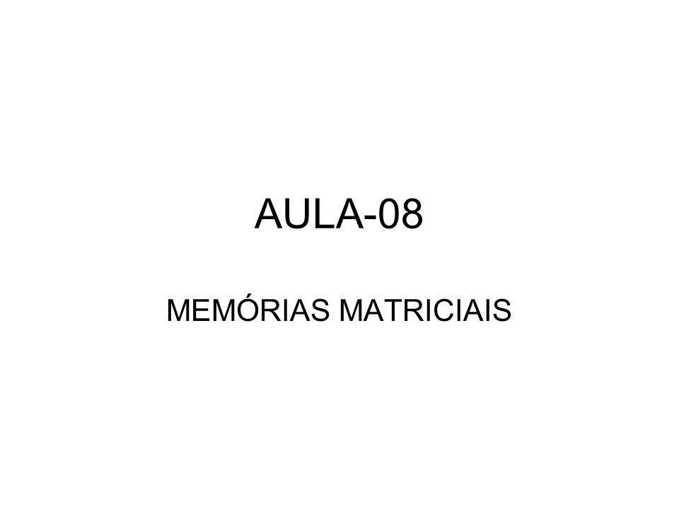 AULA-08 MEMÓRIAS MATRICIAIS
