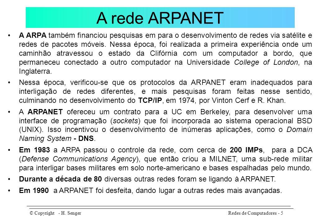 A NSFNET No final dos anos 70, a NSF (National Science Foundation), vendo o enorme impulso que a rede dava à pesquisa científica no país, resolveu criar uma rede paralela à ARPANET, pois nem todas as universidades tinham acesso à ela.