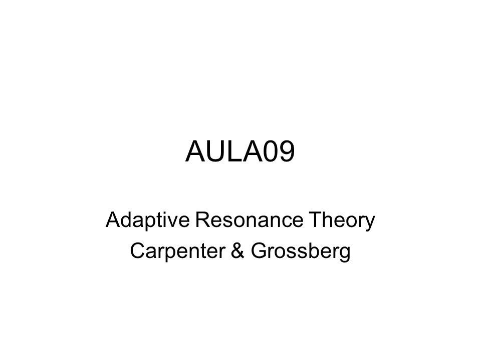 AULA09 Adaptive Resonance Theory Carpenter & Grossberg