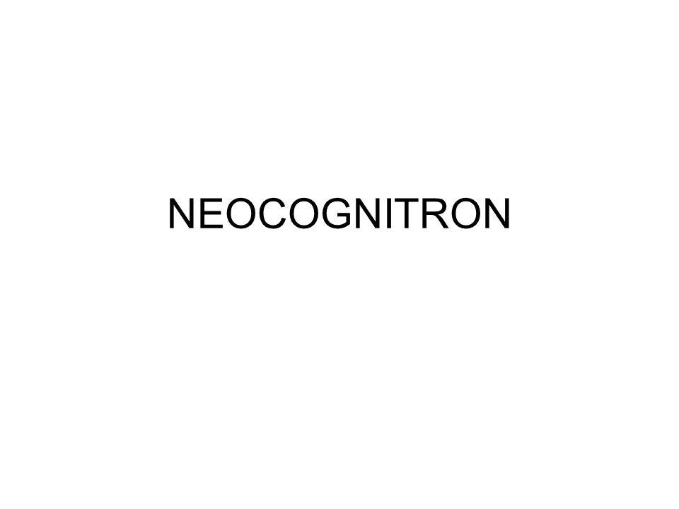 Planos celulares Cada camada do neocognitron consiste de um certo número de planos celulares bidimensionais.