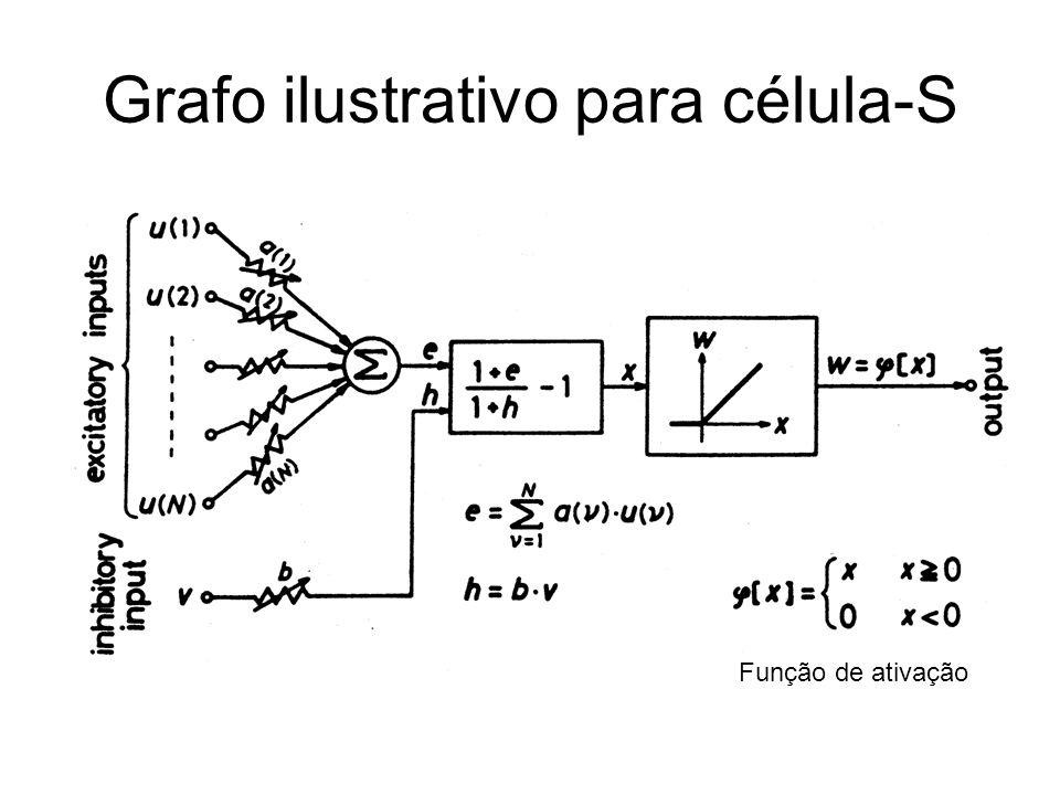Grafo ilustrativo para célula-S Função de ativação