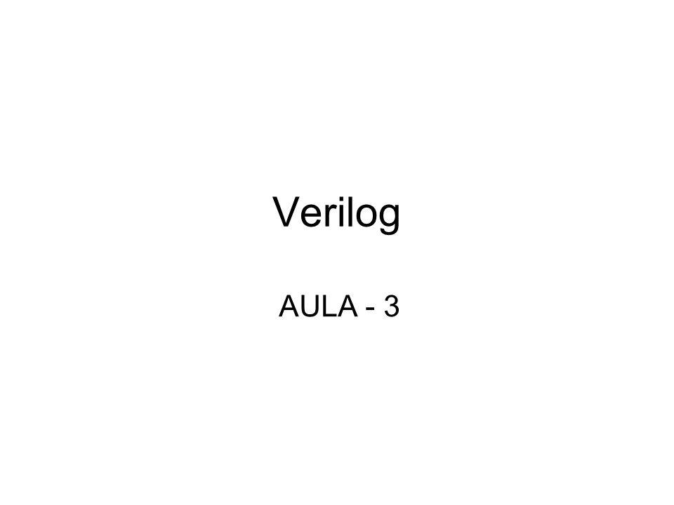 Introdução Verilog é uma linguagem, como VHDL, largamente usada para descrever sistemas digitais, utilizada universalmente.