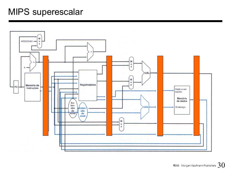 30 1998 Morgan Kaufmann Publishers MIPS superescalar