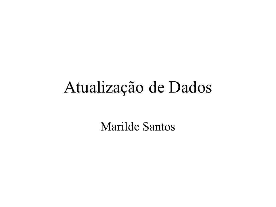 Atualização de Dados Marilde Santos