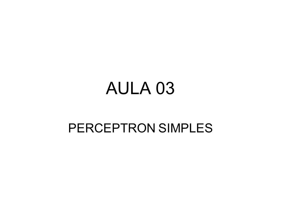 Perceptron Clássico – Rosenblatt (1958) Embora essa topologia possua 3 níveis, é conhecida como perceptron de uma camada, pois somente as unidades de saída possuem propriedades adaptativas.