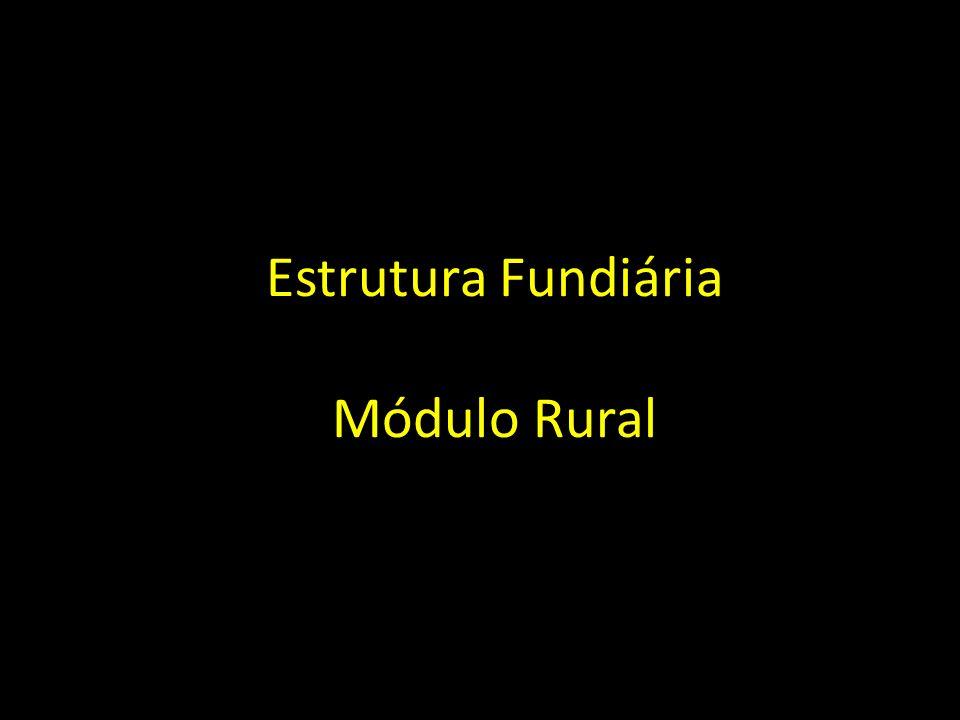 Estrutura Fundiária Módulo Rural