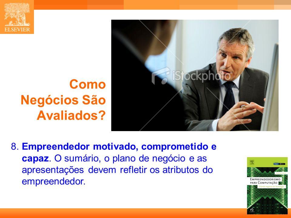26 Capa Como Negócios São Avaliados.8.Empreendedor motivado, comprometido e capaz.