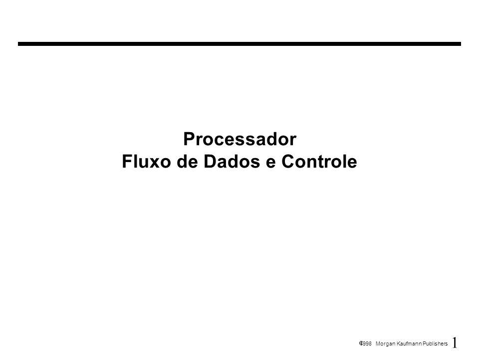 1 1998 Morgan Kaufmann Publishers Processador Fluxo de Dados e Controle