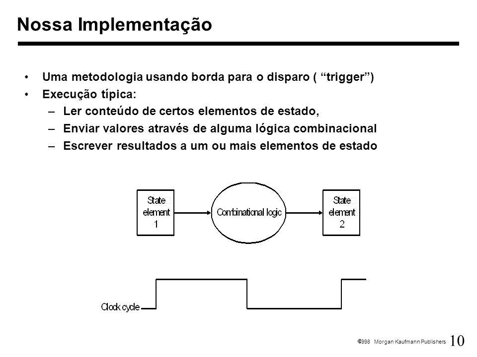 10 1998 Morgan Kaufmann Publishers Nossa Implementação Uma metodologia usando borda para o disparo ( trigger) Execução típica: –Ler conteúdo de certos