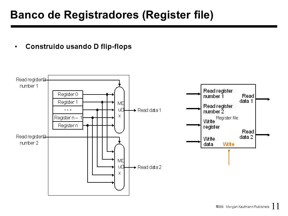 11 1998 Morgan Kaufmann Publishers Construido usando D flip-flops Banco de Registradores (Register file)