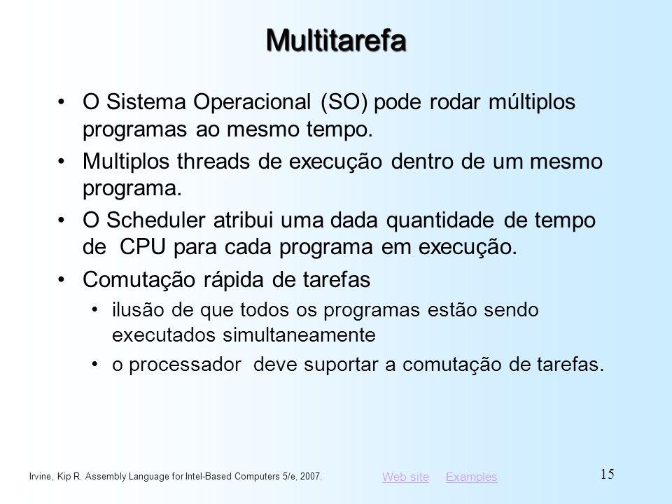 Web siteWeb site ExamplesExamplesMultitarefa O Sistema Operacional (SO) pode rodar múltiplos programas ao mesmo tempo. Multiplos threads de execução d