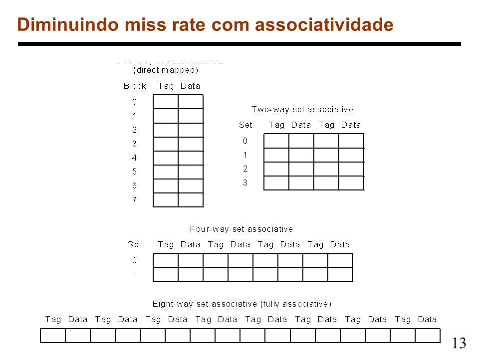 13 Diminuindo miss rate com associatividade