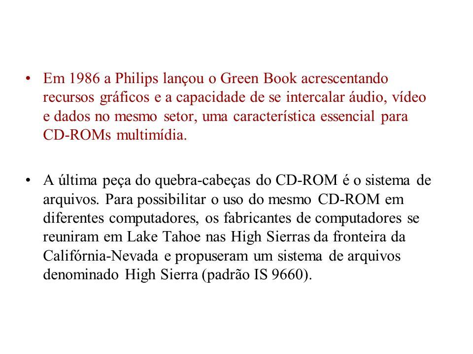 Em 1986 a Philips lançou o Green Book acrescentando recursos gráficos e a capacidade de se intercalar áudio, vídeo e dados no mesmo setor, uma caracte
