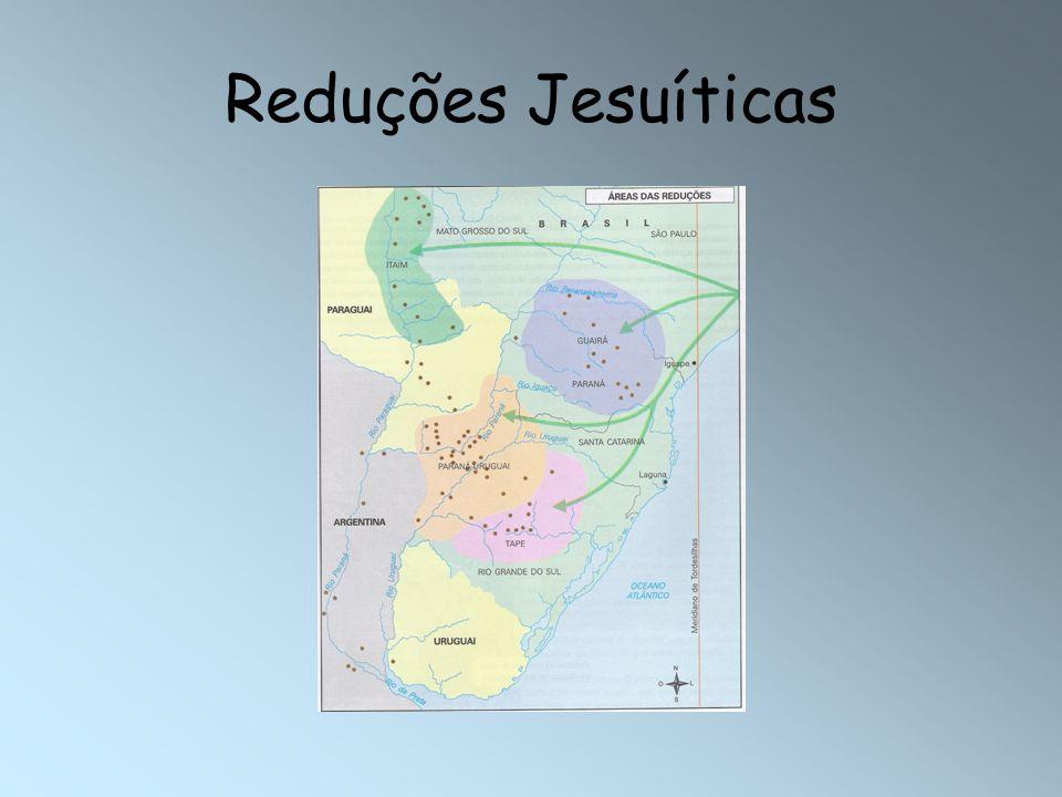 VACARIAS-> rebanhos de reses que haviam ficado na região quando os jesuítas partiram