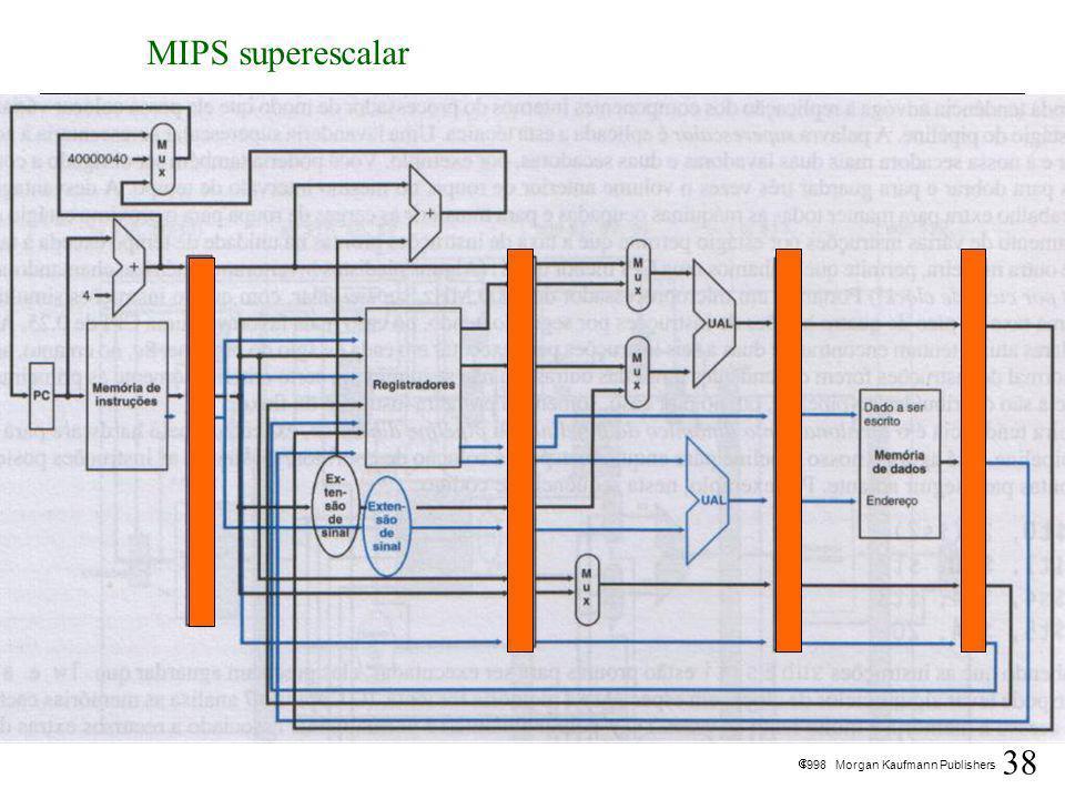 38 1998 Morgan Kaufmann Publishers MIPS superescalar