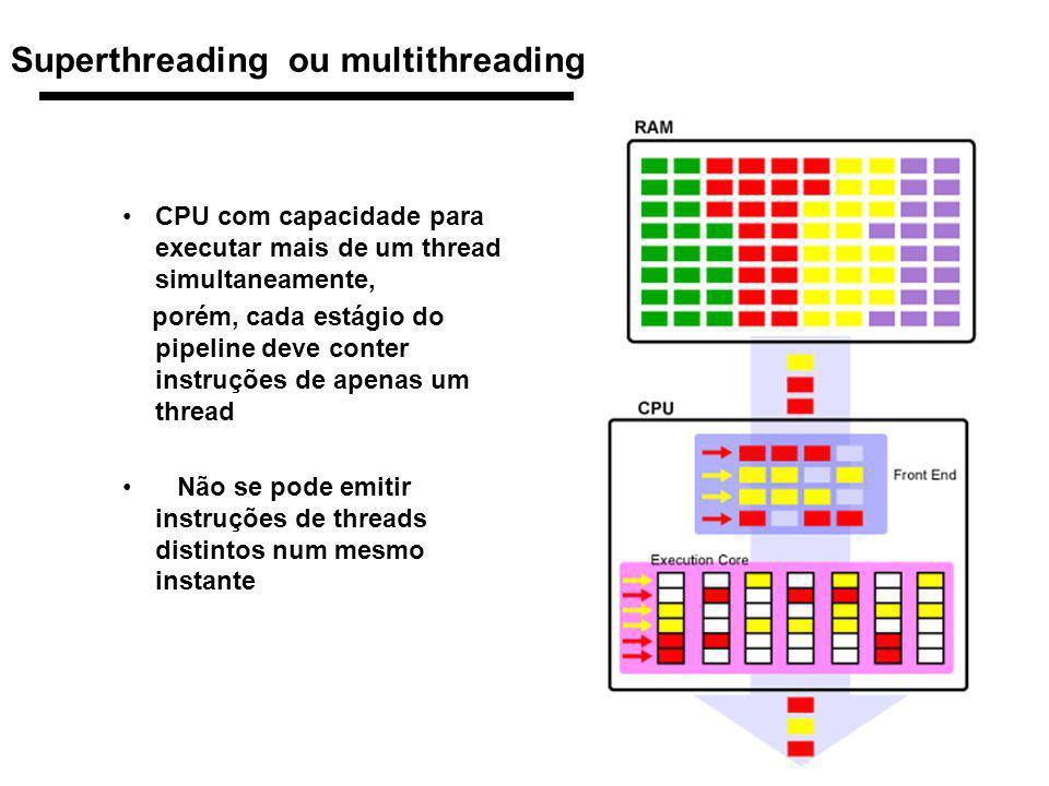 48 1998 Morgan Kaufmann Publishers Superthreading ou multithreading CPU com capacidade para executar mais de um thread simultaneamente, porém, cada es