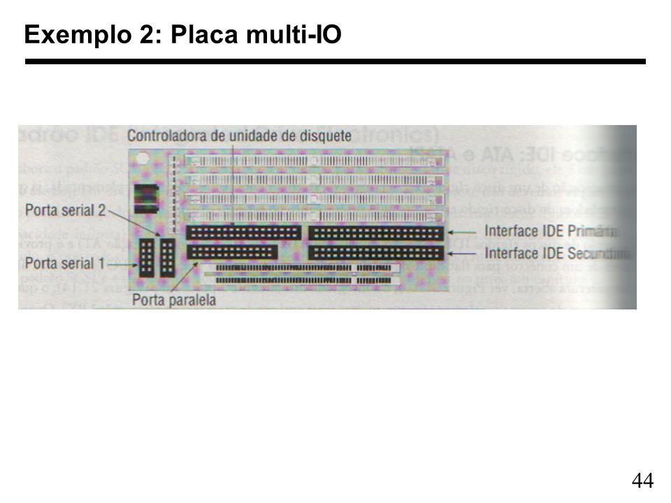 44 Exemplo 2: Placa multi-IO