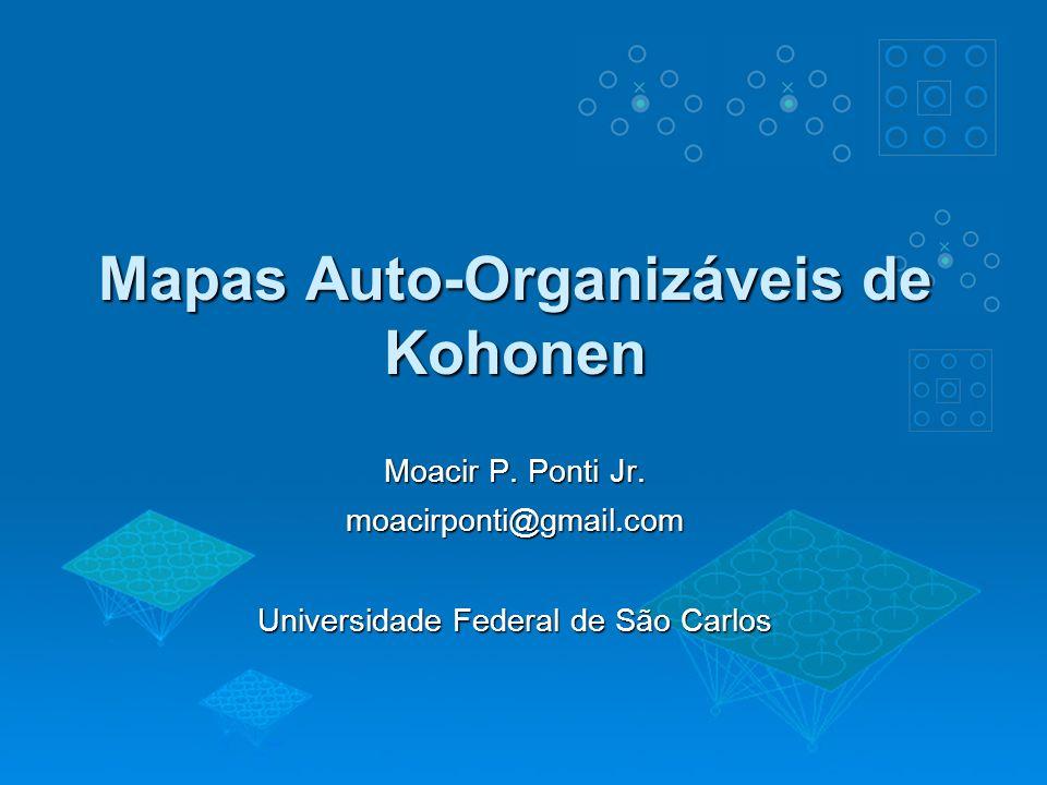 Mapas Auto-Organizáveis de Kohonen Moacir P. Ponti Jr. moacirponti@gmail.com Universidade Federal de São Carlos