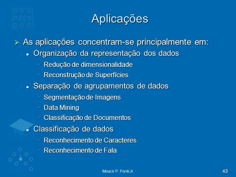 43 Moacir P. Ponti Jr. Aplicações As aplicações concentram-se principalmente em: As aplicações concentram-se principalmente em: Organização da represe