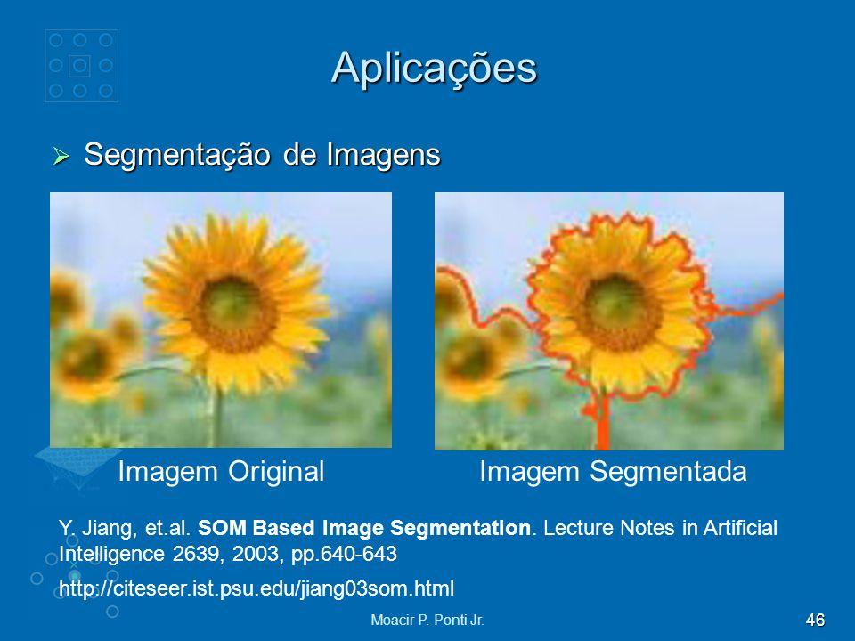 46 Moacir P. Ponti Jr. Aplicações Segmentação de Imagens Segmentação de Imagens Imagem OriginalImagem Segmentada http://citeseer.ist.psu.edu/jiang03so