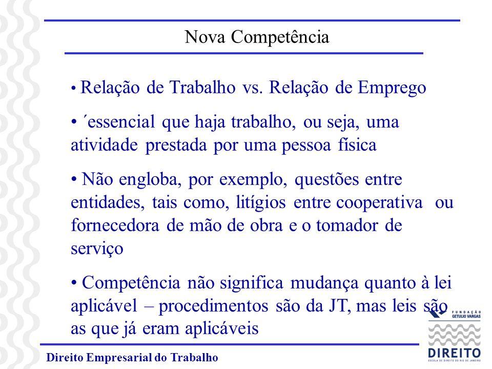 Direito Empresarial do Trabalho Ações relativas às reparações civis decorrentes de greves passam a ser da competência da JT (Inc.