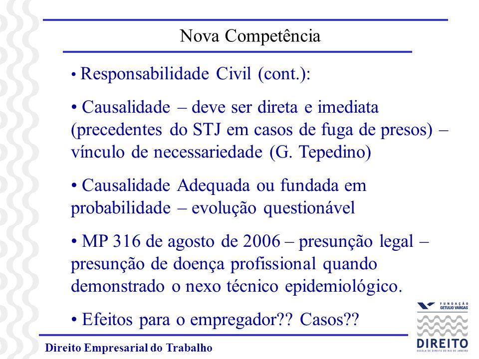 Direito Empresarial do Trabalho INSTRUÇÃO NORMATIVA Nº 27 de 2005 Publicada no Diário da Justiça em 22 - 02 - 05 Dispõe sobre normas procedimentais aplicáveis ao processo do trabalho em decorrência da ampliação da competência da Justiça do Trabalho pela Emenda Constitucional nº45/2004.