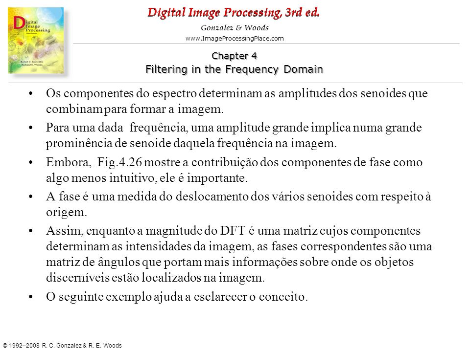 Digital Image Processing, 3rd ed. www.ImageProcessingPlace.com © 1992–2008 R. C. Gonzalez & R. E. Woods Gonzalez & Woods Chapter 4 Filtering in the Fr