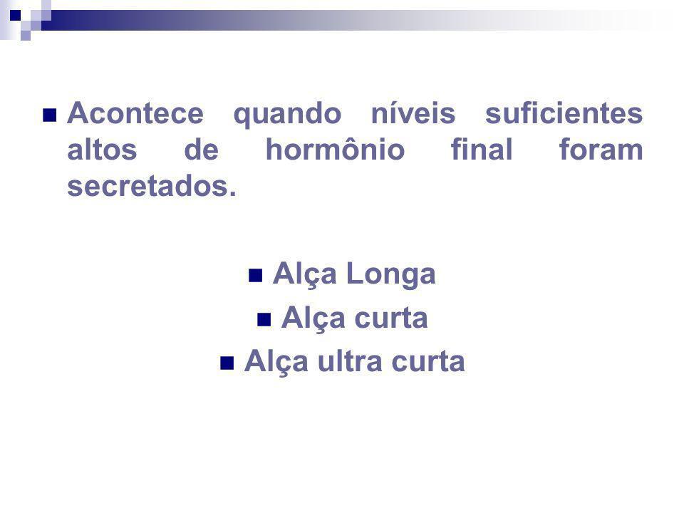Acontece quando níveis suficientes altos de hormônio final foram secretados. Alça Longa Alça curta Alça ultra curta