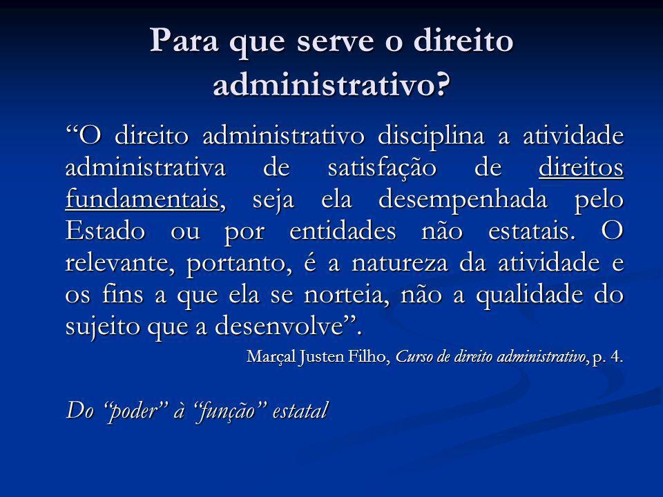 Para que serve o direito administrativo.