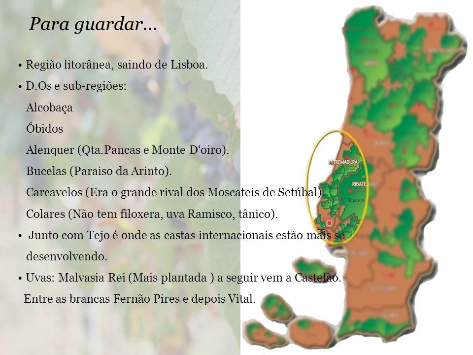 Para guardar...Região litorânea, saindo de Lisboa.
