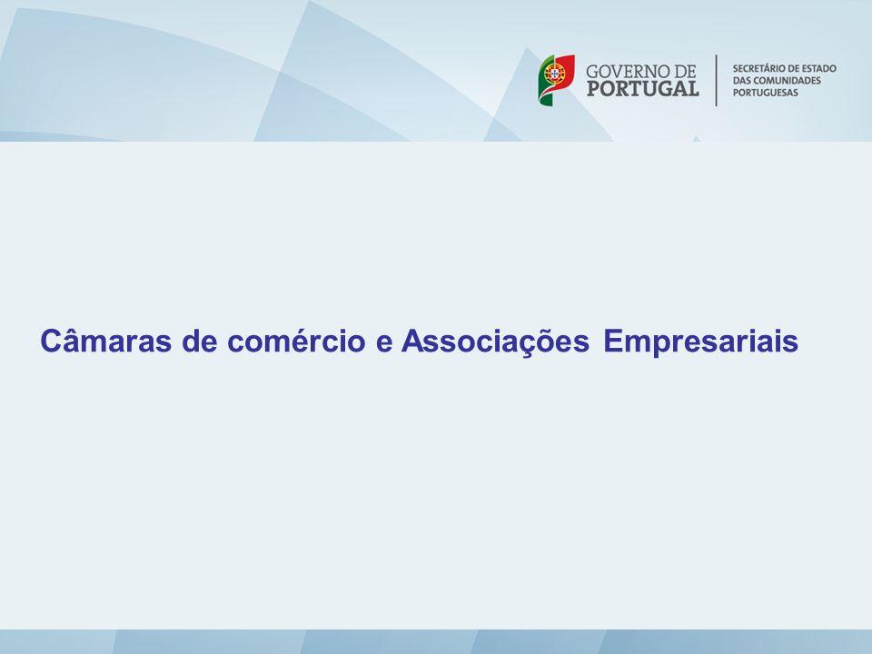 Câmaras de comércio e Associações Empresariais
