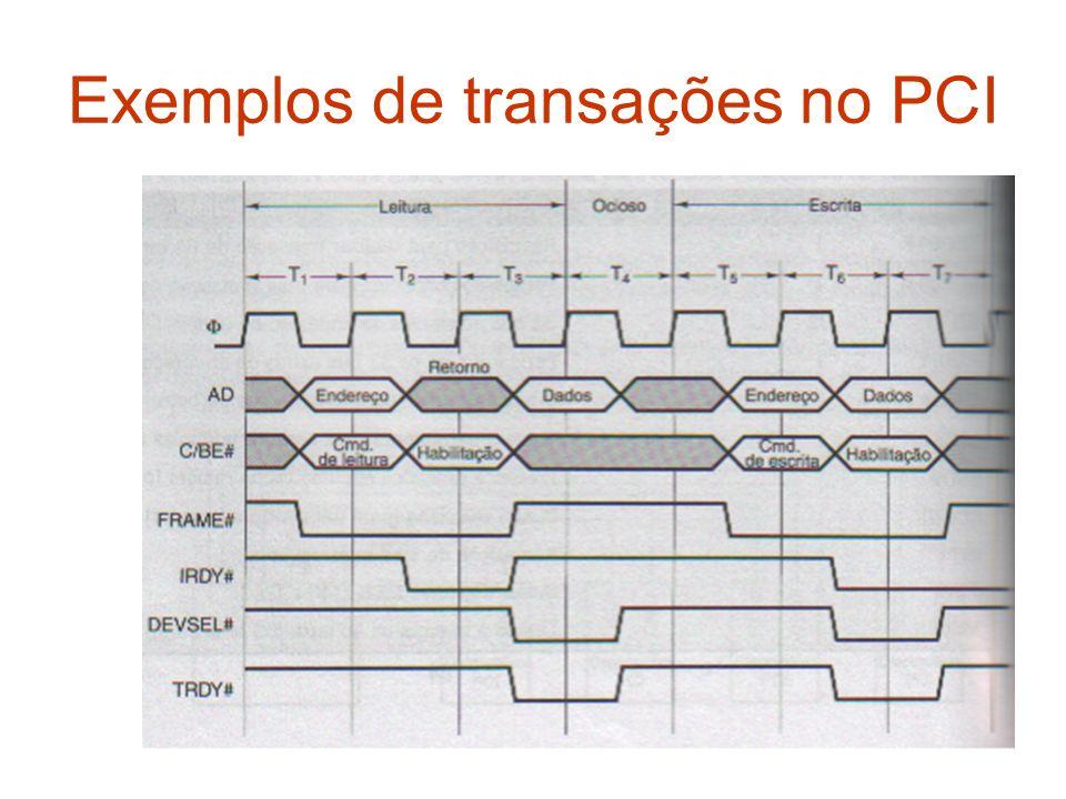 Exemplos de transações no PCI