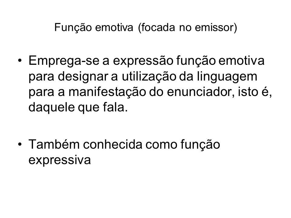Função fática (focada no canal) A linguagem tem a função de manter os laços sociais.