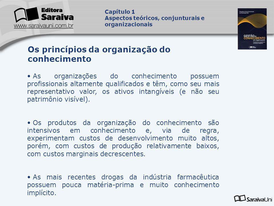 As organizações do conhecimento possuem profissionais altamente qualificados e têm, como seu mais representativo valor, os ativos intangíveis (e não s