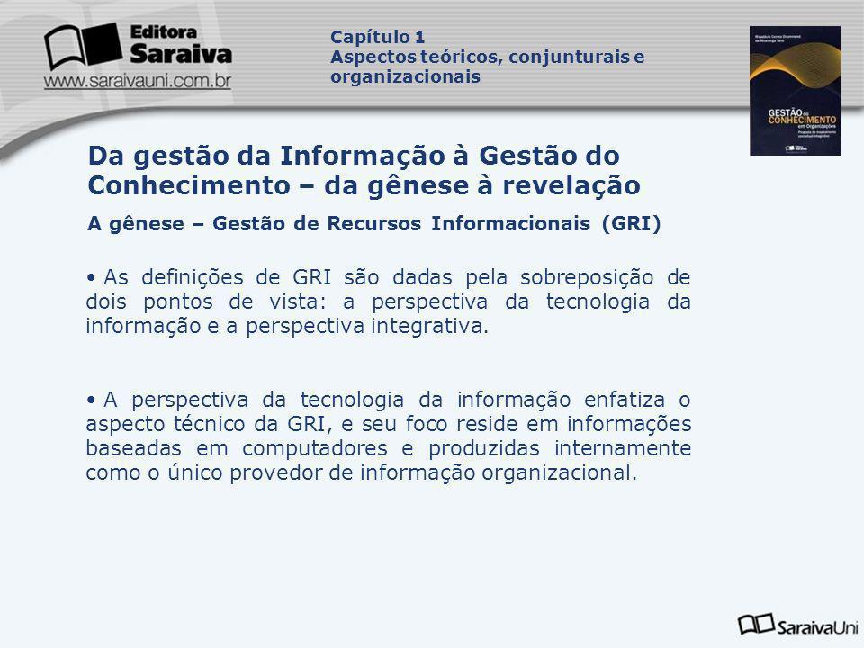 As definições de GRI são dadas pela sobreposição de dois pontos de vista: a perspectiva da tecnologia da informação e a perspectiva integrativa. A per