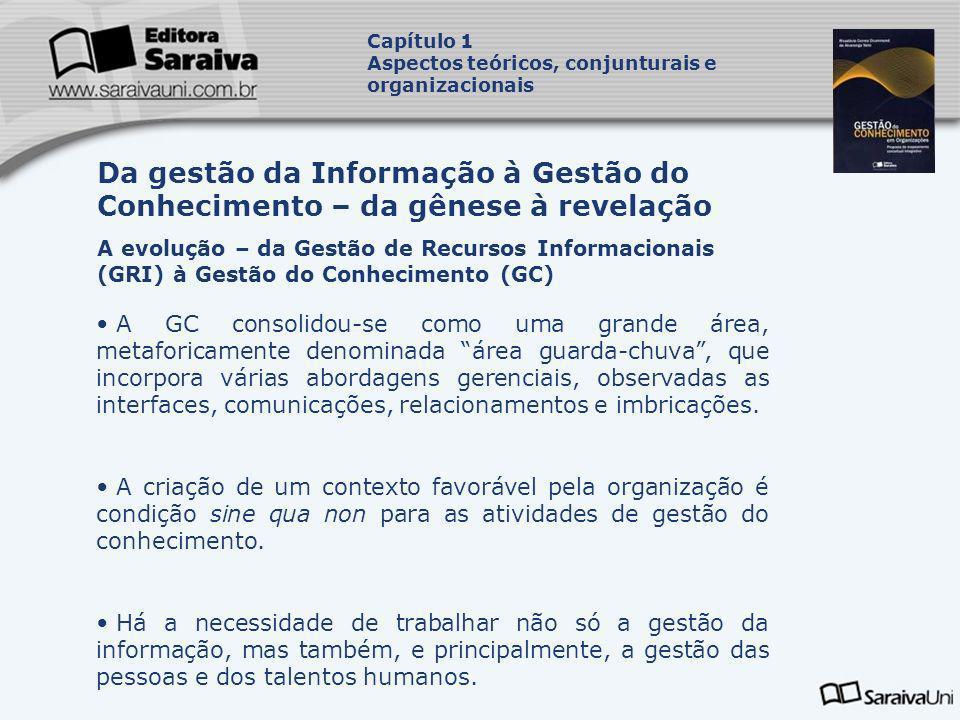 Da gestão da Informação à Gestão do Conhecimento – da gênese à revelação A evolução – da Gestão de Recursos Informacionais (GRI) à Gestão do Conhecime