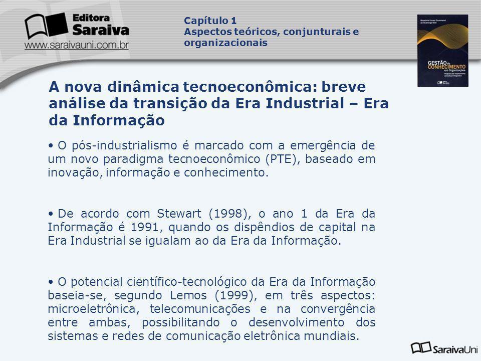 O pós-industrialismo é marcado com a emergência de um novo paradigma tecnoeconômico (PTE), baseado em inovação, informação e conhecimento. De acordo c