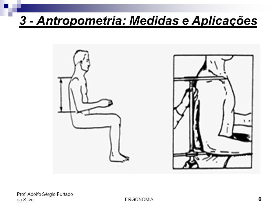 ERGONOMIA 6 Prof. Adolfo Sérgio Furtado da Silva 3 - Antropometria: Medidas e Aplicações