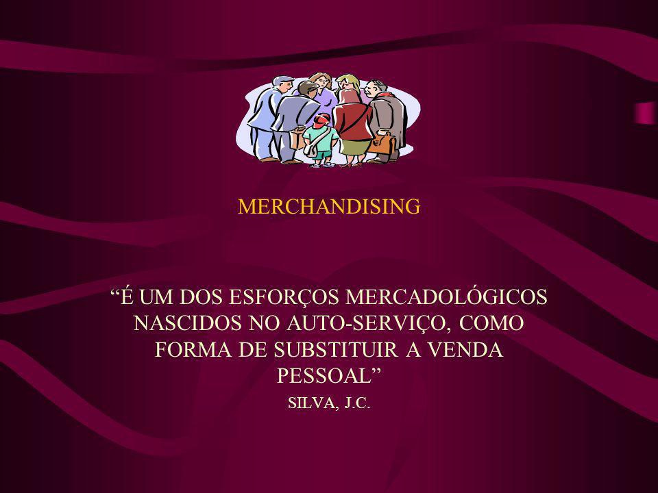 MERCHANDISING É UM DOS ESFORÇOS MERCADOLÓGICOS NASCIDOS NO AUTO-SERVIÇO, COMO FORMA DE SUBSTITUIR A VENDA PESSOAL SILVA, J.C.