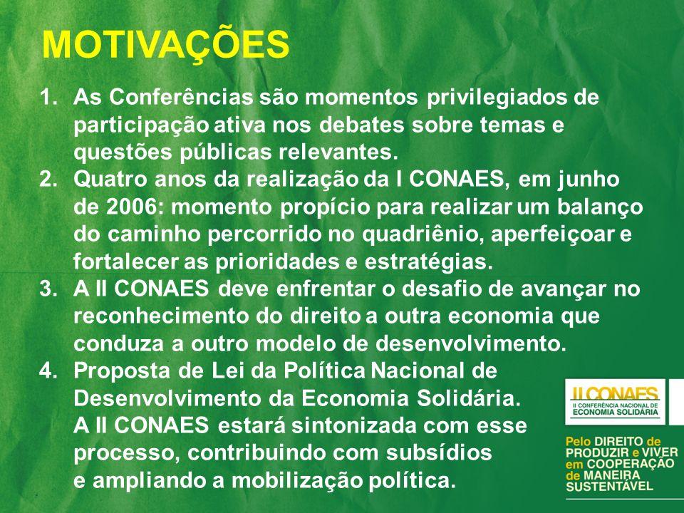 1.As Conferências são momentos privilegiados de participação ativa nos debates sobre temas e questões públicas relevantes.