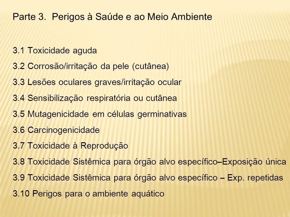 Anexos Anexo 1: Alocação dos elementos no rótulo Anexo 2: Tabelas resumo da Classificação e Rotulagem Anexo 3: Medidas Preventivas e Pictogramas Anexo 4: Rotulagem de produtos químicos para o consumidor baseada na probabilidade de danos Anexo 5: Metodologias de avaliação de compreensibilidade dos instrumentos de comunicação de perigos Anexo 6: Exemplos de alocação dos elementos no rótulo Anexo 7: Exemplo de Classificação de produto químico Anexo 8: Diretrizes para os perigos ao meio aquático Anexo 9: Documento sobre transformação/dissolução de metais e compostos metálicos em meio aquoso