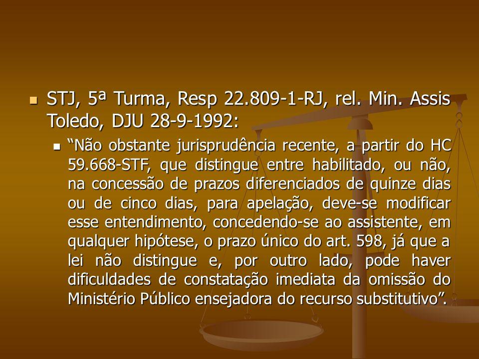 STJ, 5ª Turma, Resp 22.809-1-RJ, rel. Min.