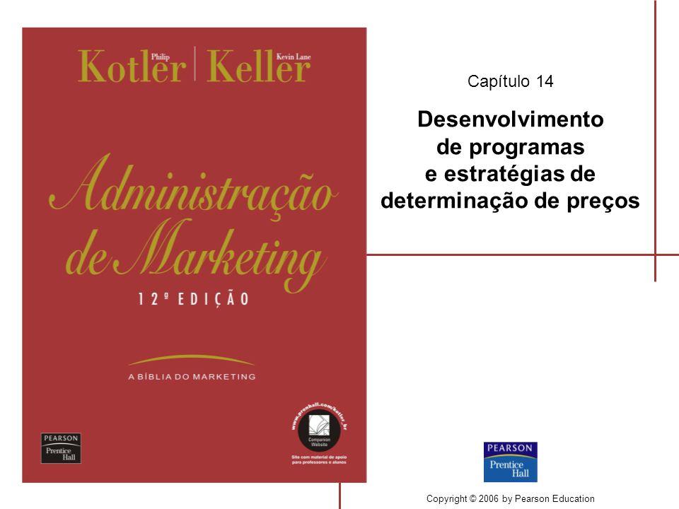 Capítulo 14 Desenvolvimento de programas e estratégias de determinação de preços Copyright © 2006 by Pearson Education