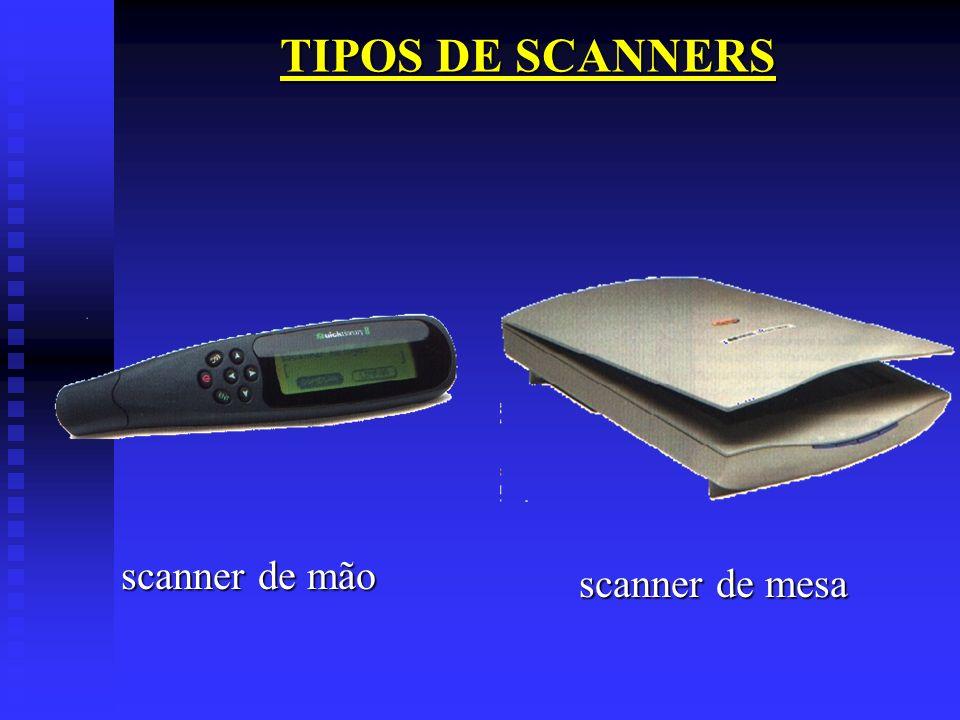 TIPOS DE SCANNERS scanner de mão scanner de mesa